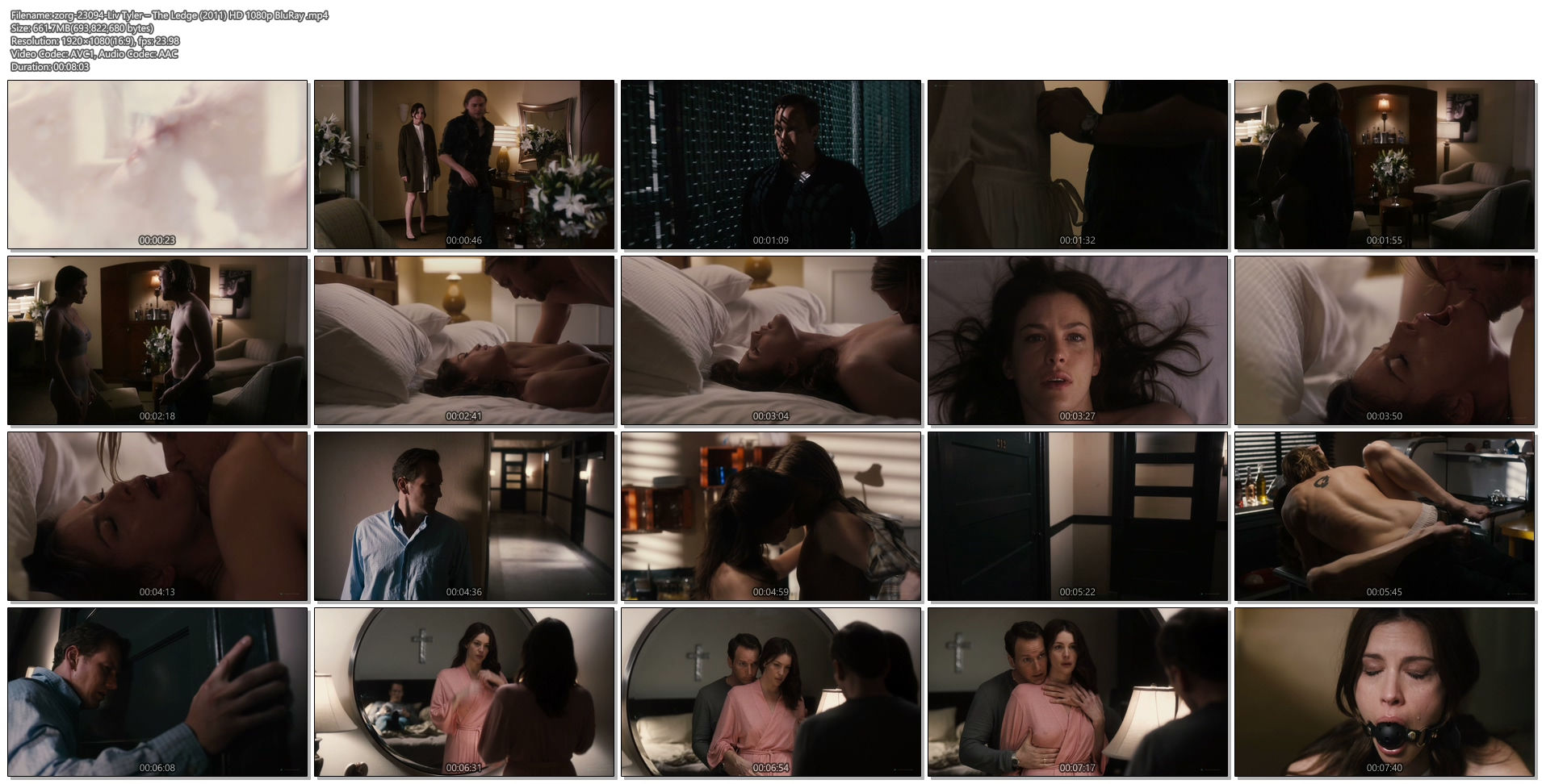 Liv Tyler nude topless sex and bondage - The Ledge (2011) HD 1080p BluRay (1)