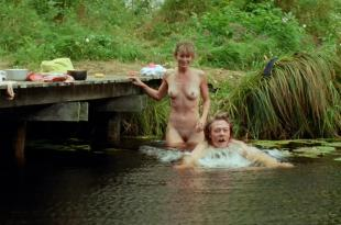 Maria Bonnevie nude full frontal and skinny dipping  – Uskyld (2012) hd1080p