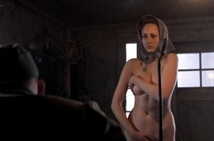 Leelee Sobieski nude stripping but covered – Uprising (2001) HDTV 720p