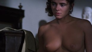 Elizabeth Hurley nude topless - Rowing with the Wind (1987)