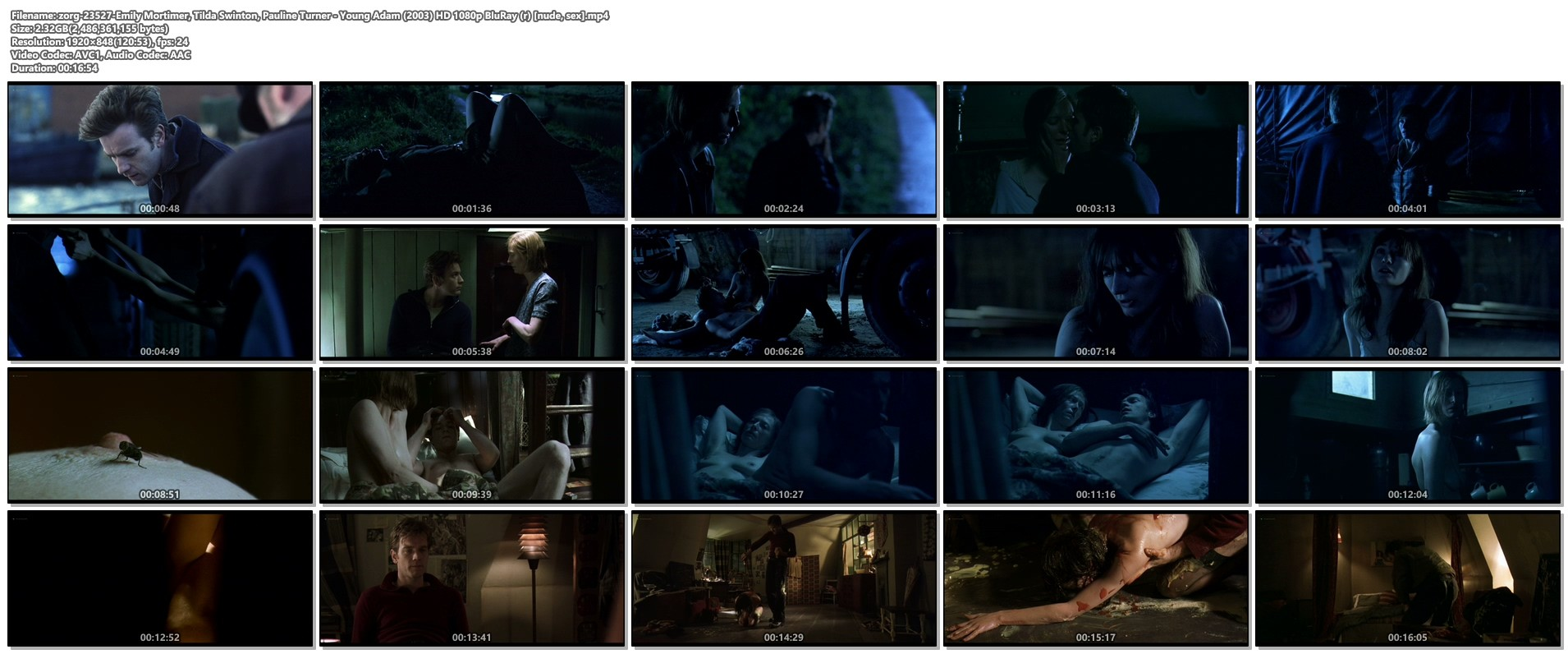 Emily Mortimer nude Tilda Swinton and Pauline Turner nude full frontal - Young Adam (2003) HD 1080p BluRay (1)