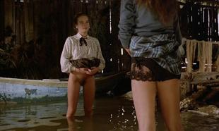 Florence Guerin nude full frontal and bush Trine Michelsen nude bush and sex threesome - La bonne (1986)