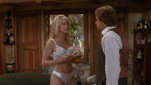 Nicollette Sheridan hot and sexy in lingerie - Noises Off (1992) hd720p