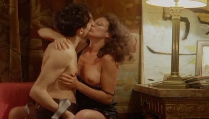 Serena Grandi nude topless bush full frontal oral and near explicit - Desiderando Giulia (1986) (11)