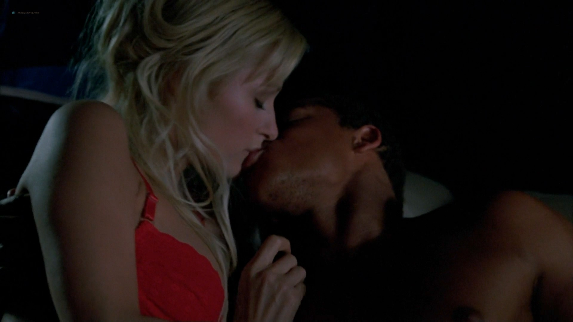 Elisha Cuthbert hot cleavage Paris Hilton striping to bra and panties - House of Wax (2005) HD 1080p (3)