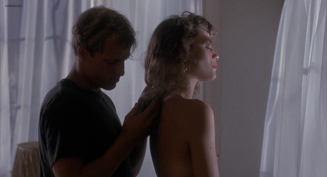 Ely Pouget nude topless and Judie Aronson nude topless some sex - Cool Blue (1990) HD 720p. (13)