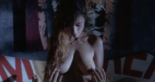 Ely Pouget nude topless and Judie Aronson nude topless some sex - Cool Blue (1990) HD 720p. (8)