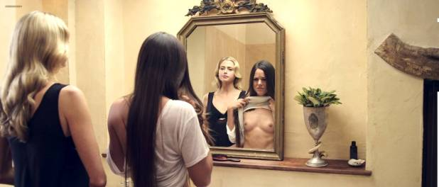 Estella Warren nude but covered and hot sex and Sarah Butler nude topless and butt - The Stranger Within (2013) HD 1080p (7)