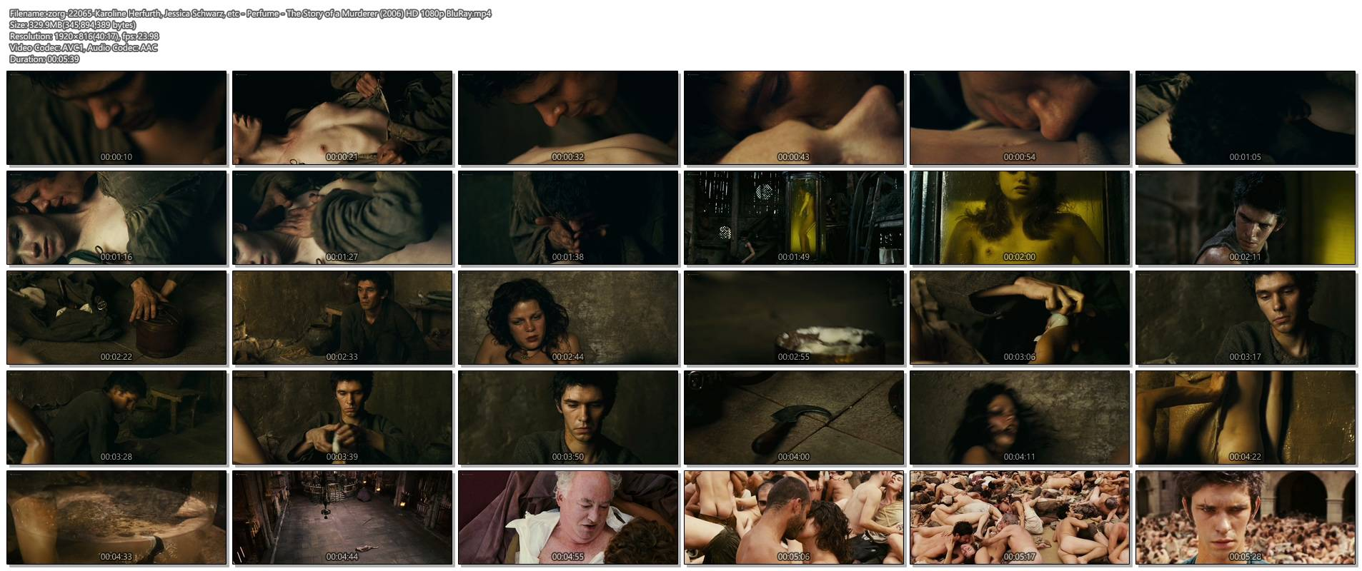Karoline Herfurth nude Sara Forestier, Jessica Schwarz and others nude topless and butt - Perfume The Story of a Murderer (2006) HD 1080p BluRay (1)