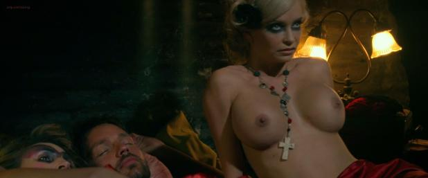 Mindy Robinson nude topless and Christian Pitre nude but covered - Bounty Killer (2013) hd1080p