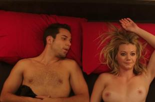 Alexis Knapp not nude but very hot and Megan Stevenson nude topless and sex – Cavemen (2013) hd1080p
