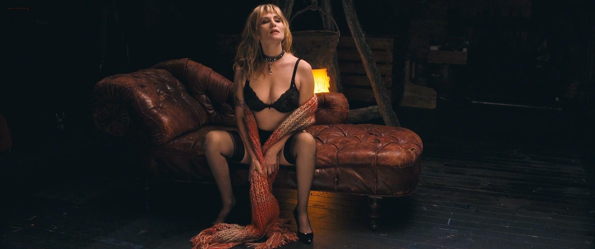 Emmanuelle Seigner hot sexy in lingerie and briefly nude topless in  Polanski's Venus in Fur (2013) hd1080p ...