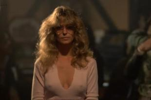Farrah Fawcett hot sexy cleavage and pokies from- The Cannonball Run (1981)