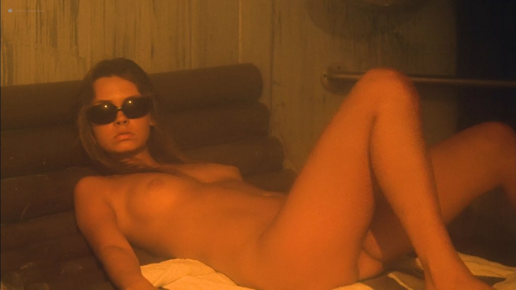 June Chadwick nude bush and topless and Dawn Dunlap nude full frontal - Forbidden World (1982) HD 1080p BluRay (9)