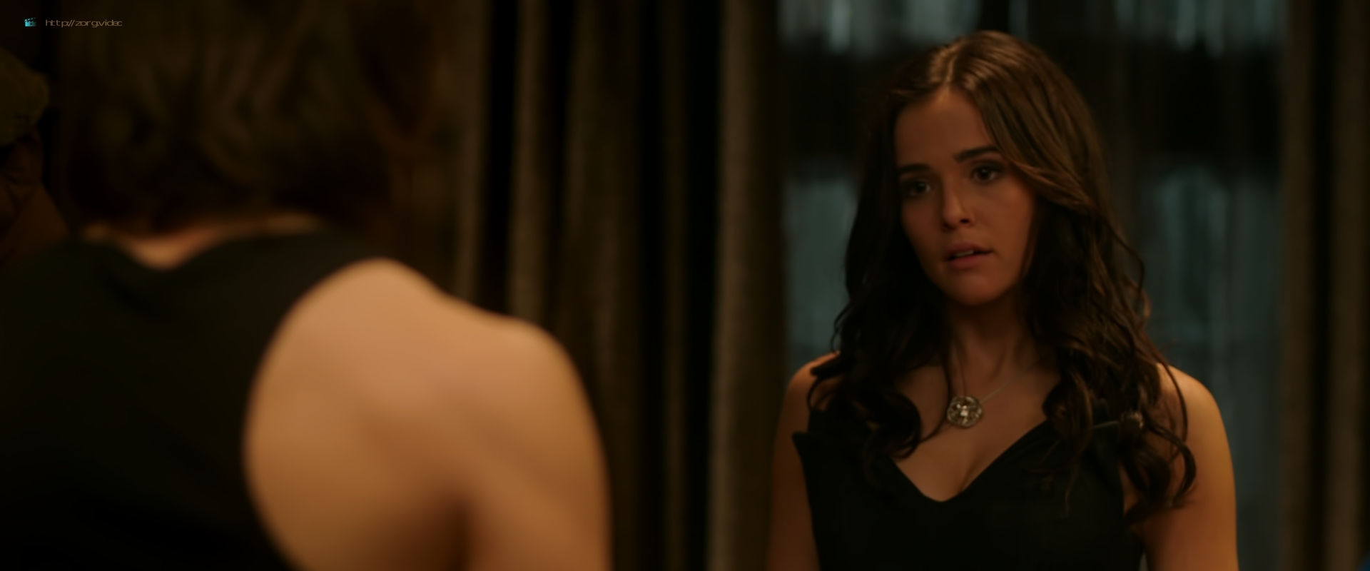 Zoey Deutch hot and sexy in black lingerie and some mild sex in - Vampire Academy (2014) HD 1080p BluRay (9)