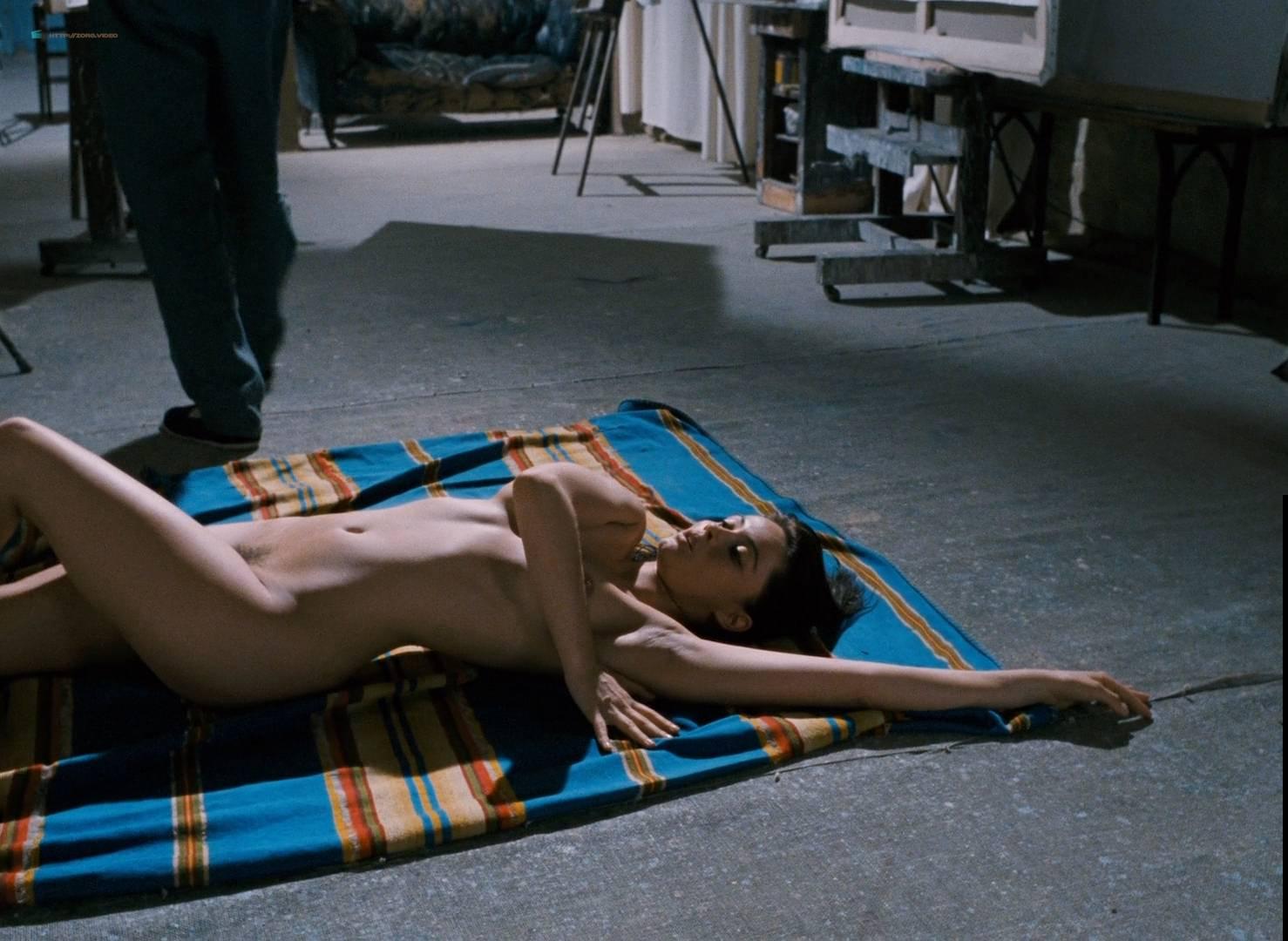 Emmanuelle Béart nude full frontal bush and nude modeling in - La belle noiseuse (FR-1991) HD 1080p BluRay (9)