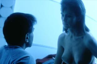 Leigh Lombardi nude briefly topless- Moontrap (1989) hd1080p