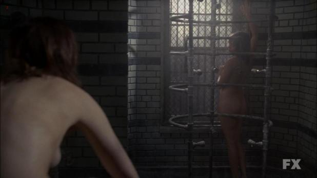 Lizzie Brocheré nude butt and Sarah Paulson nude - American Horror Story (2013) s2e2 hd720p