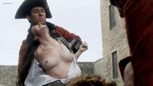 Laura Donnelly nude topless and Caitriona Balfe nude - Outlander (2014) s1e2 hd720/1080p