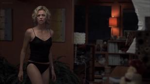 Charlize Theron hot in panties and Courtney Love wet in bath - Trapped (2002) hd1080p