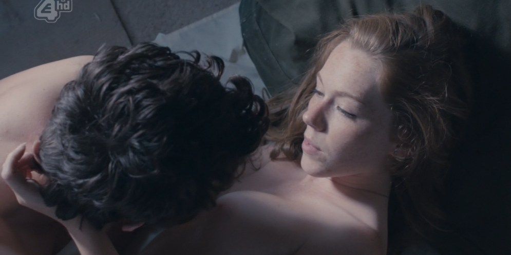 Charlotte Spencer nude butt and brief topless - Glue (2014) s1e7 hd720p (1)