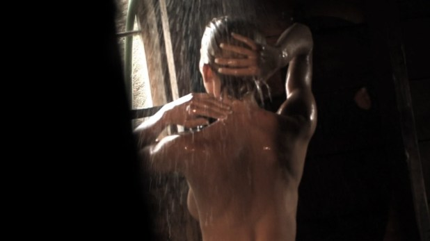 Sarah Wald nude in the shower and Melanie Gillis nude sex - Fileds of The Dead (2014) hd1080p (2)