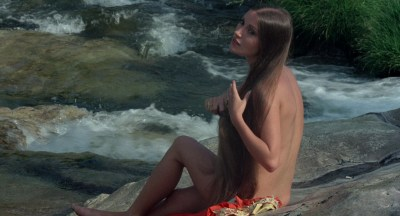 Jane Seymour nude side boob and nipple and Taryn Power nude side boob - Sinbad and the Eye of the Tiger (1977) hd1080p (2)
