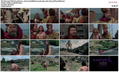 Jane Seymour nude side boob and nipple and Taryn Power nude side boob - Sinbad and the Eye of the Tiger (1977) hd1080p (6)