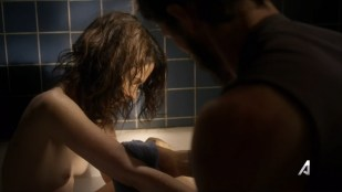 Joanna Going nude brief topless in the tube and Kiele Sanchez not nude but hot sex - Kingdom (2014) s1e6 hdtv720p