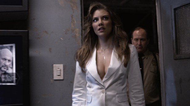 Lauren Cohan hot huge claveage and very sexy though mean - Death Race 2 (2010) hd1080p (10)