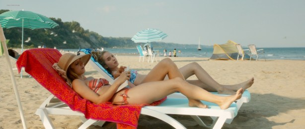 Zoe Kazan nude butt and Megan Park and MacKenzie Davis not nude but hot bikini- What If (2014) hd1080p (8)