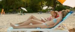 Zoe Kazan nude butt and Megan Park and MacKenzie Davis not nude but hot bikini- What If (2014) hd1080p (7)