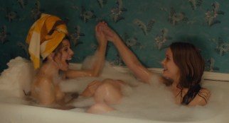 Isabelle McNally nude topless and Marisa Tomei nude nipple peak - Loitering with Intent (2014) WEB-DL hd720p (2)