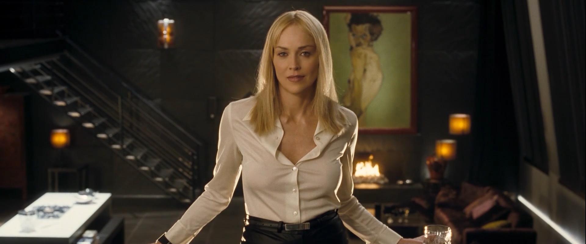 Sharon Stone nude topless sex and Flora Montgomery nude - Basic Instinct 2 (2006) hd1080p (2)