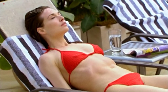 Claire Forlani nude topless in the shower - The Diplomat (2009) (12)
