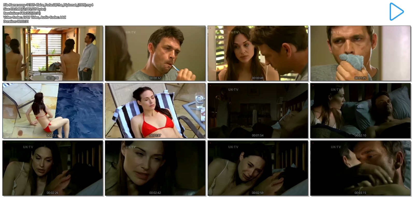 Claire Forlani nude topless in the shower - The Diplomat (2009) (10)
