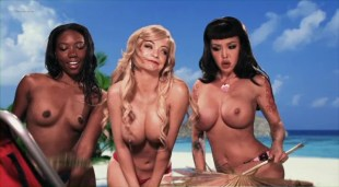 Mindy Robinson nude topless Masuimi Max & Chanell Heart nude too – Gingerdead Man Vs. Evil Bong (2013)