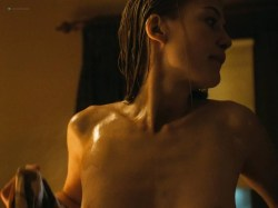 Rosamund Pike nude side boob sex and Ayelet Zurer nude topless and sex - Fugitive Pieces (2007) HD 1080p (8)
