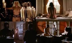 Toni Collette nude bush labia Polly Walker nude full frontal hand job others nude too - 8½ Women (1999) (2)