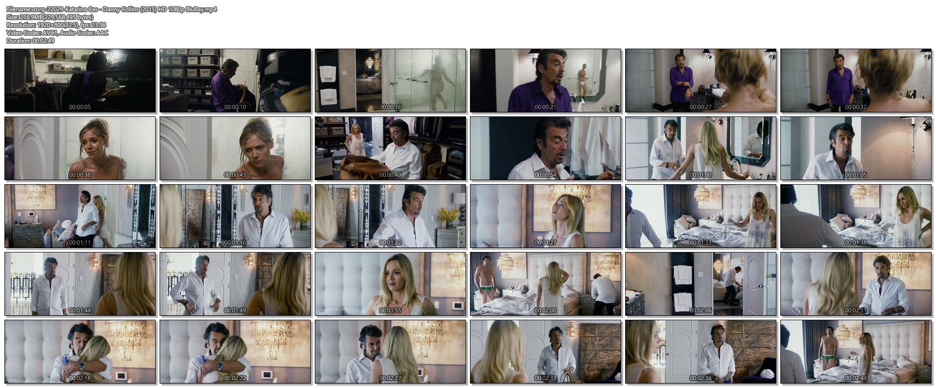 Katarina Cas nude topless and see through - Danny Collins (2015) HD 1080p BluRay (1)