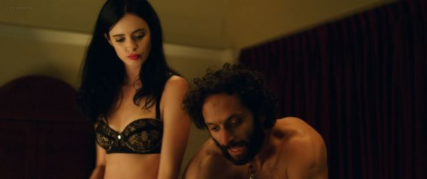 Krysten Ritter hot and sexy in black lingerie - Search Party (2014) BluRay HD 1080p (7)