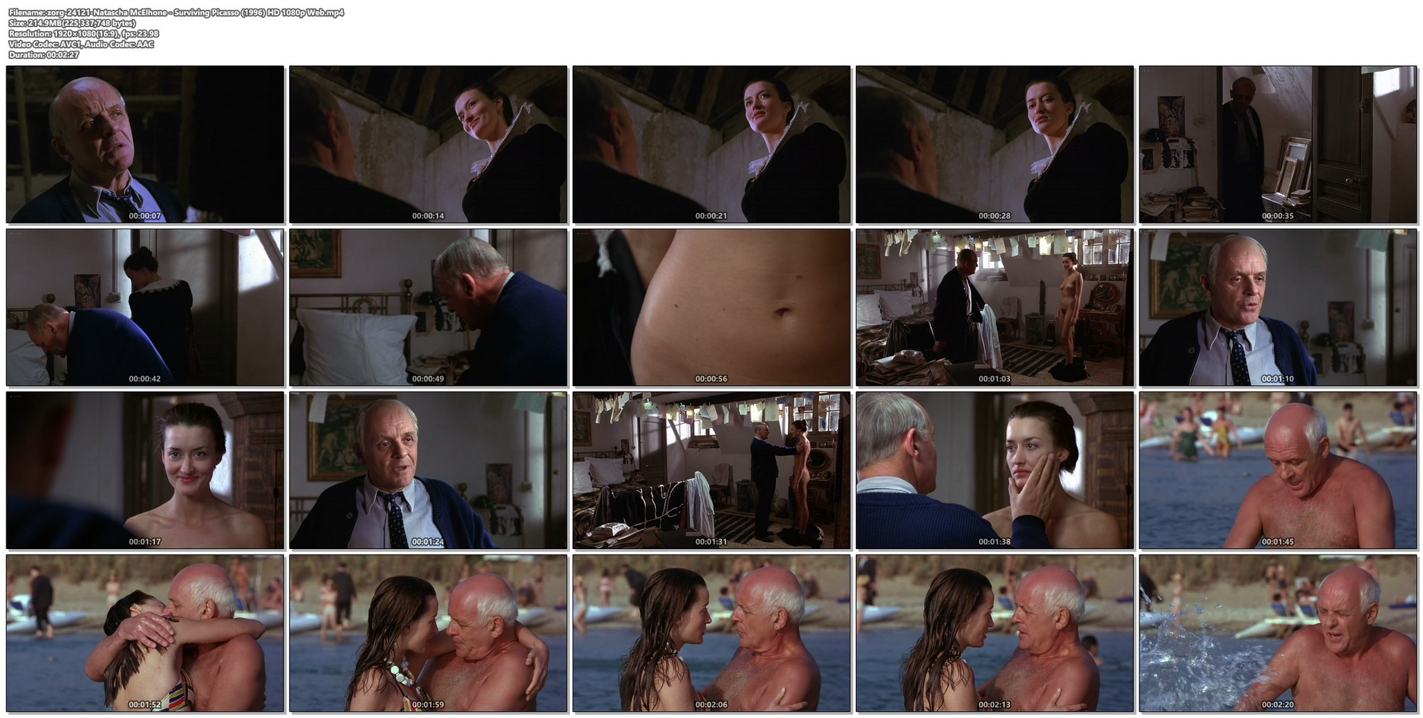 Natascha McElhone nude full frontal and topless - Surviving Picasso (1996) HD 1080p Web (1)