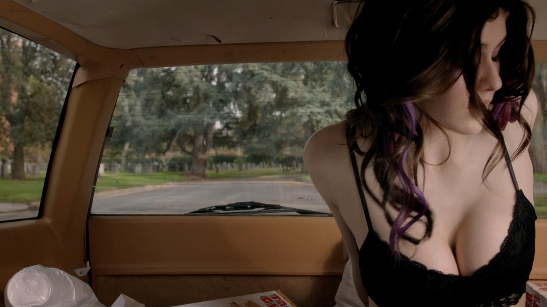 Alexandra Daddario hot cleavage and Ashley Greene hot - Burying the Ex (2014) hd1080p BluRay (15)