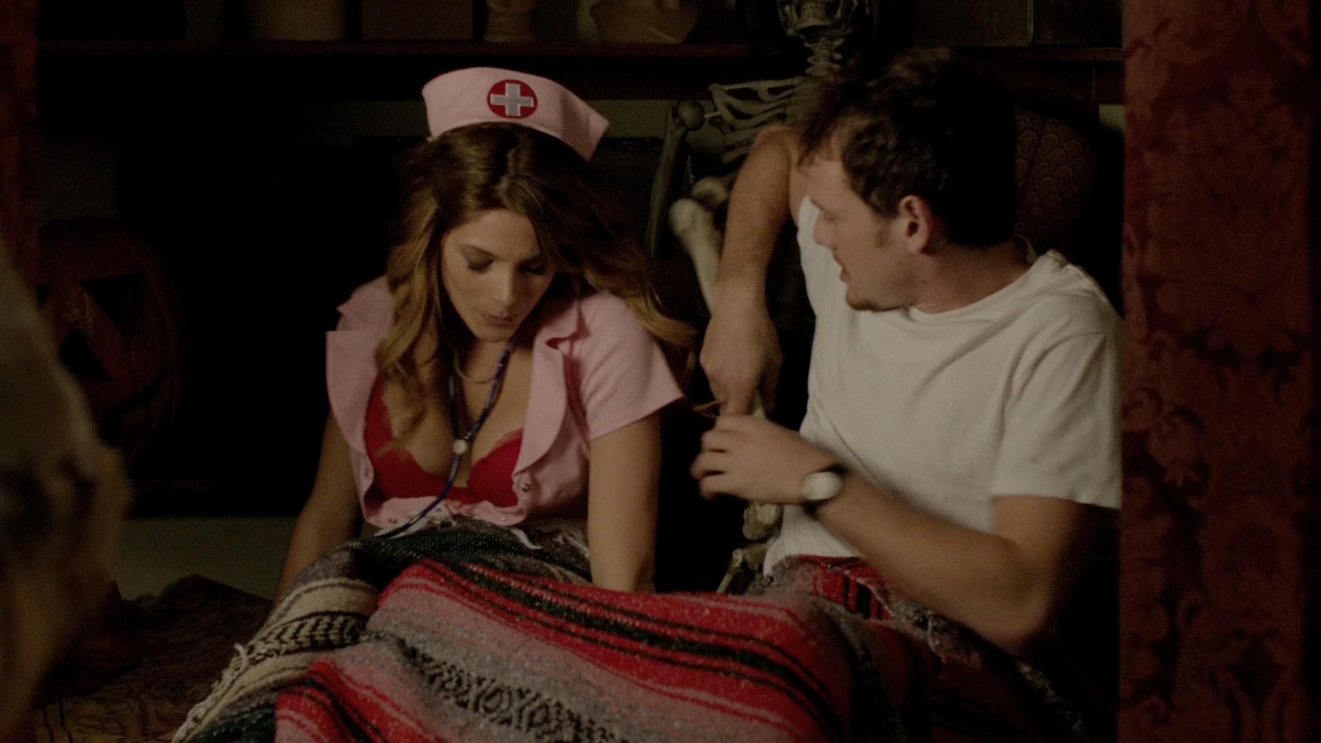 Alexandra Daddario hot cleavage and Ashley Greene hot - Burying the Ex (2014) hd1080p BluRay (10)
