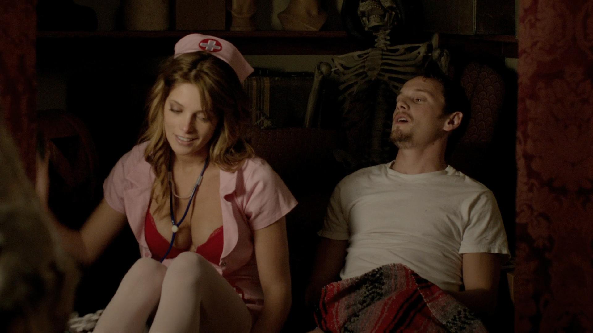Alexandra Daddario hot cleavage and Ashley Greene hot - Burying the Ex (2014) hd1080p BluRay (8)
