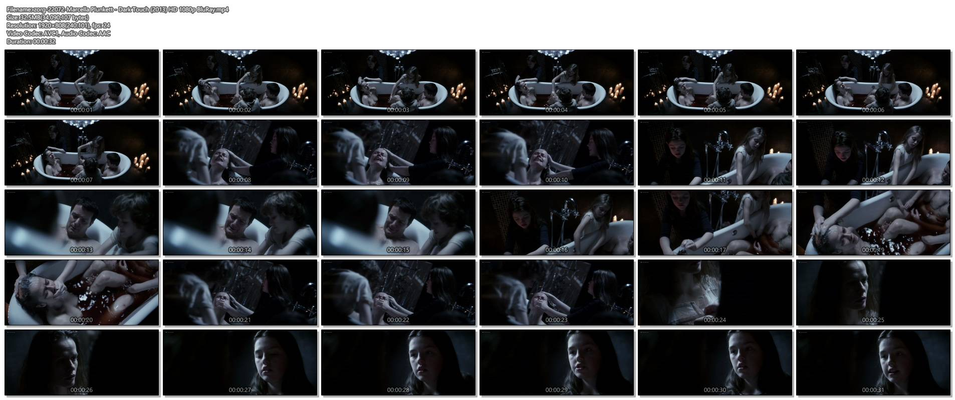 Marcella Plunkett nude topless in bath - Dark Touch (2013) HD 1080p BluRay (1)