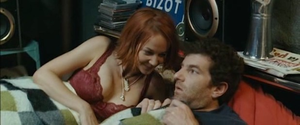 Karina Testa nude topless and Carine Lacroix not nude hot in lingerie - Ze film (FR-2005) (9)
