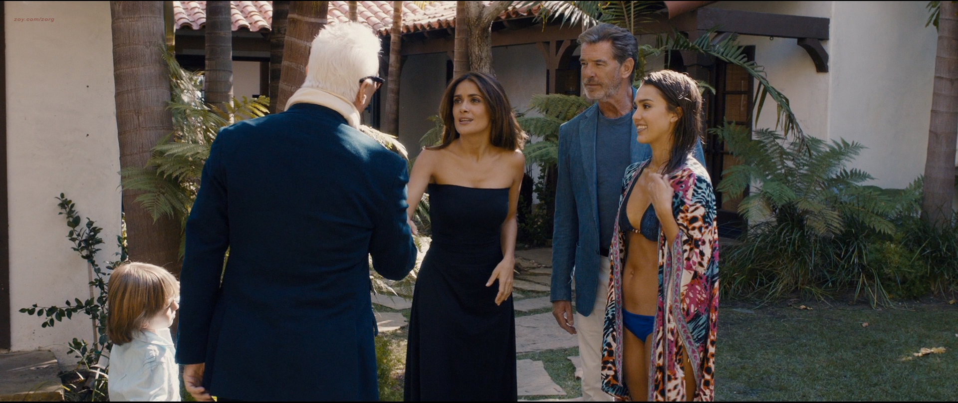 Salma Hayek nude butt Jessica Alba hot bikini and Lindsey Sporrer nude butt - Some Kind Of Beautiful (2014) hd1080p BluRay (15)