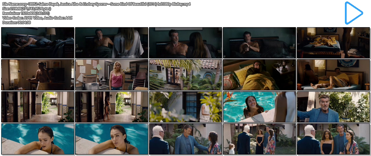 Salma Hayek nude butt Jessica Alba hot bikini and Lindsey Sporrer nude butt - Some Kind Of Beautiful (2014) hd1080p BluRay (14)