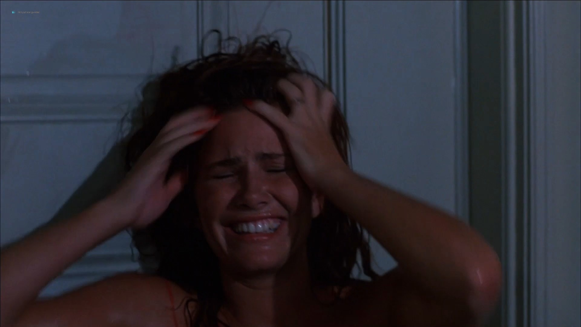 Tawny Kitaen nude bush and topless in the shower - Witchboard (1985) HD 1080p (1)